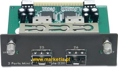 2-port Gigabit Mini-GBIC Slot Module for TEG-S3000i