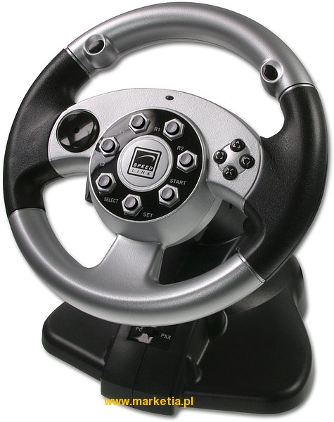 SL-6682 Kierownica SPEED-LINK PC PS2 2in1 Silver Lightning Wheel