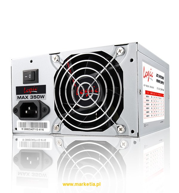 ZASILACZ LOGIC 350W 80mm FAN