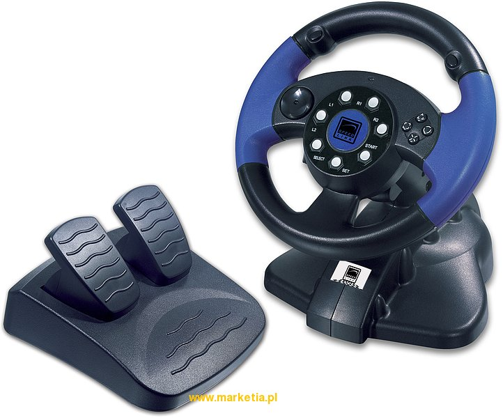 SL-4281 Kierownica SPEED-LINK PS2 Blue Lightning Racing Wheel