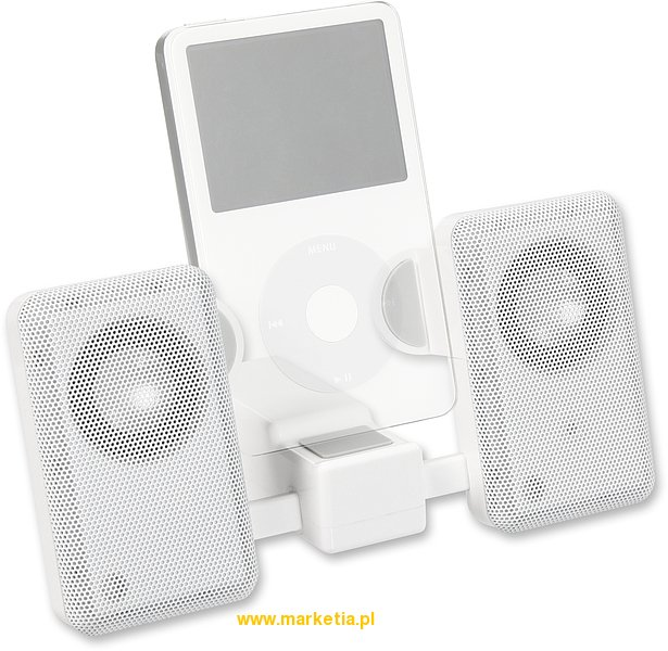 Compact MP3 Speakers, white