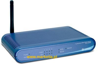 54Mbps Wireless ADSL Modem Firewall Router /w 4-port Switch